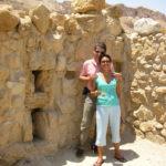 Con Alina, en Massada, Israel, Junio de 2007.