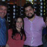 En New York, Navidad de 2013, con Diana, Sebastián y Alina