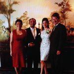 """En el matrimonio de Luis Alberto """"Cachito"""" Torres y Carolina Salcedo, mayo de 2013"""