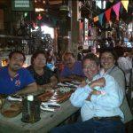 En Andrés Carne de Res, con Cachito Torres, María del Carmen Román, Luis Torres y Alina Vera, marzo de 2012