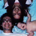 Con Livina Santos y Daniela, 1980.