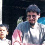 Con Sebastián Vallejo de 3 años, en Quito 1989.