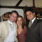 Con Daniela y Sebastián Vallejo, el día de la boda de Sebastián Vallejo con Diana Paredes, el 18 de julio de 2009