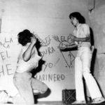 Con Antonio Toaza,  en la obra Donde comienza el mañana, de Jorge Dávila Vásquez, en el teatro de la Casa de la cultura, Núcleo del Guayas, 1976.