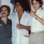 Con Pablo Milanés, durante I Encuentro de Escritores y Artistas Latinoamericanos y del Caribe, menores de 30 años, organizado por la Casa de las Américas, en La Habana, Cuba., octubre de 1983
