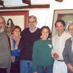 Con el intelectual Alejandro Moreano, la crítica Alicia Ortega, el académico norteamericano Michael Handelsman, su hija Alysa, y el narrador Raúl Serrano, en Quito, en julio de 2005.