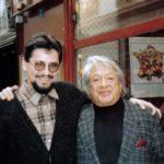 Con Oswaldo Guayasamín, París, marzo de 1990.
