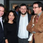 Con Gloria Luz Gutiérrez, Federico Díaz-Granados y Juan Martín Cueva, en la Tertulia Literaria, Bogotá; abril 5, 2011.