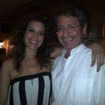 Con la actriz colombiana Angie Cepeda en el Festival Internacional de Cine de Cartagena de Indias, febrero 27, 2012.