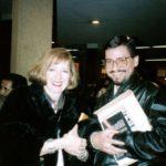 Con la crítica Mercedes López – Baralt, en La Paz, 1993.