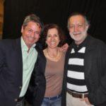 Junto a la actriz María León Arias y el poeta Jotamario Arbeláez, en la FILBO, abril  22 de 2013.