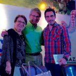 Con Cecilia Vera de Gálvez y Federico Andahazi, Fería del Libro de Guayaquil, septiembre 11, 2016.