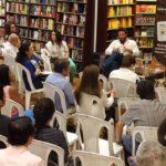 """Conversatorio sobre """"El perpetuo exiliado"""", en Mr. Books, con Fabián Darío Mosquera, Guayaquil, noviembre 30, 2016."""