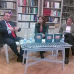"""Presentación de la edición española de """"La victoria de Junín. Canto a Bolívar"""", con Enrique Ayala Mora y Consuelo Naranjo Orovio, noviembre 6, 2012."""