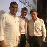 Con Rafael Correa y Juan Manuel Santos, en el gabineta binacional de Cali, 15 de diciembre de 2015.